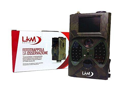 Infrarot-Kamera Fotofalle LKM Security® GPRS GSM MMS 12Megapixel