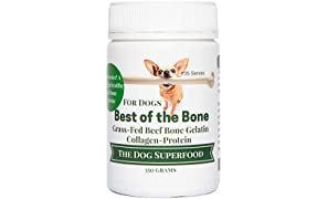 Gelatin Grass-Fed Bone Broth for Dogs - 100% Natural & No Additives for Optimal Canine Health - Supports Healthy Digestion, Build Strong Bones & Joints, Improves Skin, Fur, & Teeth - Broth for Dogs