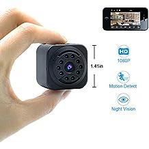 Mini Cámara Oculta UYIKOO WiFi Cámara Espía 1080P HD P2P Cámara de Seguridad Inalámbrica Soporte de