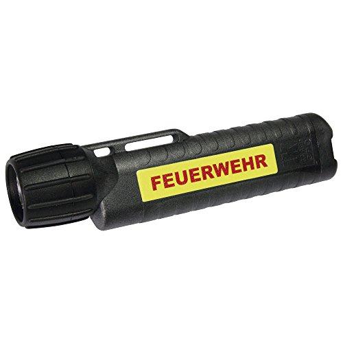feuerwehr handlampe UK Lights Helmlampe 4AA eLED CPO, nachleuchtendem Streifen, Feuerwehr, TS/Heckschalter, schwarz 14436NF