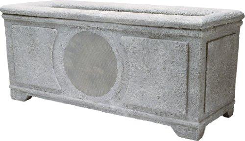 NILES PB16 SI Grey - bepflanzbarer Stereo-Lautsprecher für Garten / Terrassen
