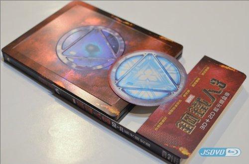 IRON MAN 3 BLU-RAY 3D+2D STEELBOOK FULL SPINE SLIP TAIWAN IMPORT (KEIN DEUTSCHER TON)