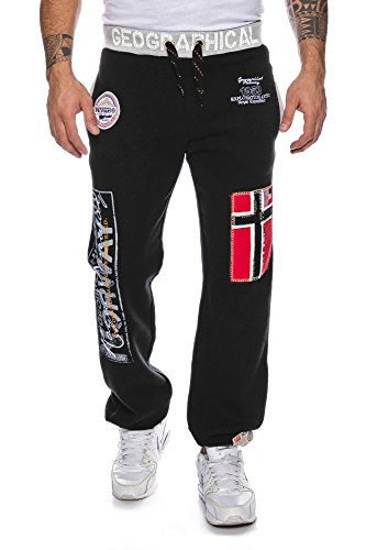 KL4 Geographical Norway Myer Herren Jogginghose Sport Hose Freizeit Black M