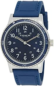 Coach Mens Navy Dial Navy Silicone Watch - 14602066