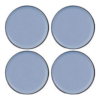 Filzada® 4x Teflongleiter Selbstklebend - Ø 50 mm (rund) - Profi Möbelgleiter/Teppichgleiter PTFE (Teflon)