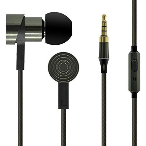 UBSOUND Magister HD Cuffie Auricolari In-Ear in Alluminio ad Alta fedeltà, Microfono, Jack 3,5mm, Cavo intrecciato anti-nodi. Garanzia 2 anni. IEM per Smartphone, PC, Game, Tablet, Mp3 e DAP