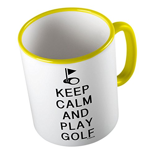 KEEP CALM and play Golf ★ Tazza buffa - Tazza da caffè - Tazza da tè ★ stampa di alta qualità e slogan buffo ★ Il regalo perfetto per ogni occasione