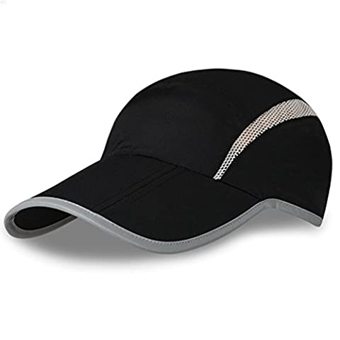 NYCOODNY Outdoor Riding Cap Quick Dry Sport Hat Lightweight Breathable Soft Folding Cap(Black)