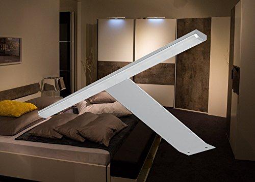 LED Aufbauleuchte Schrankleuchte / Art. 2185-0 / Lichtfarbe warm weiß mit Kabel und Steckverbindung Spiegellampe Schrankleuchte Möbelleuchte Aufbaulampe Alu