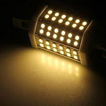 Pixnor R7s 13W AC 100V-240V 36 SMD 5050 LED 1250LM 3600K Cálido Blanco LED E27 Bombilla LED luz Lámpara