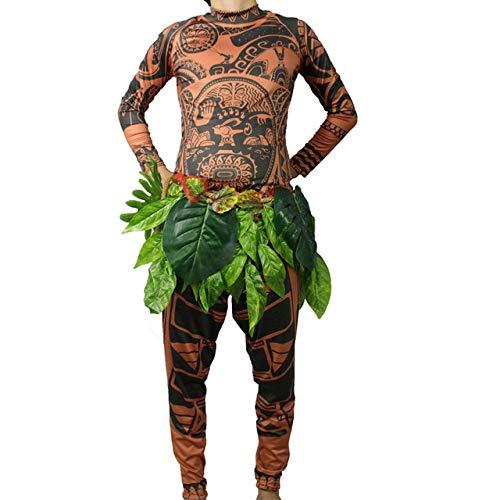 Hiswill Film Moana Maui Costume Moana Costumes Adulte Cosplay Petit bébé Enfants garçon