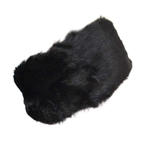 LCLrute Frauen-Faux-Pelz-Beanie warmer Winter halten warme Hut-Handschuh-Tasche (Schwarz) (Handschuhe Stricken Magie)