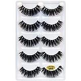1 Box 3d Mink Lashes Full Strip Lashes Makeup False Eyelash 3d Mink Eyelash extension Hand Made 5 pairs Eyelashes-s