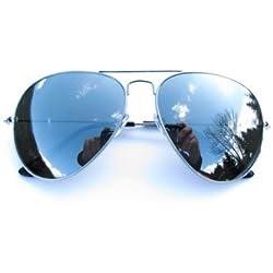 ALPLAND Sonnenbrille Pilotenbrille Silber VERSPIEGELT inkl. Softbag