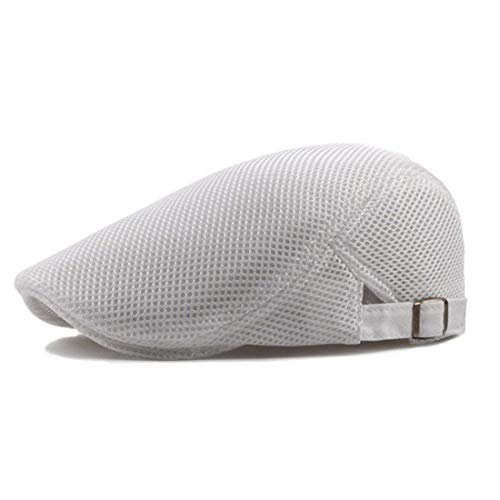 Duckbill Beret Modernas Kappe Lässig Ivy Gatsby Newsboy Driving Cap Kappe Kappe Hunting Hat Te (Color : Weiß, Size : One Size) ()