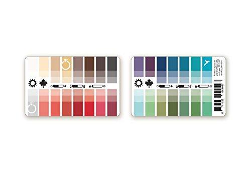 Farbpass Sommer-Herbst (Soft Autumn) als Plastikkarte mit 30 typgerechten Farben zur Farbanalyse, Farbberatung, Stilberatung