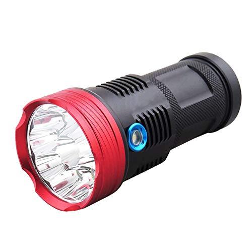 Lai-LYQ LED Taschenlampe,USB Wiederaufladbare Tragbarer Superhelle 11000 Lumen Spotbeleuchtung für Sports Camping Zelt Schwarz