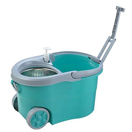 cbea82166 Floor Magic Spin Mop Bucket Juego de Microfibra Cabezas secas giratorias  con 2 Cabezas, Rodillo