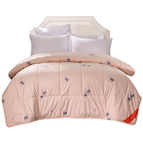 MMM 100% pure laine d'hiver couette coton épais Gardez chaud Double Quilt Double Core (Couleur : Jade Couleur, taille : 200 * 230cm)