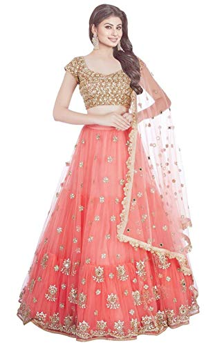 Wandar Beauty women\'sEmbroidered multicolour Semi Stitched lehengas, lehenga choli (WANDR-09,FreeSize)