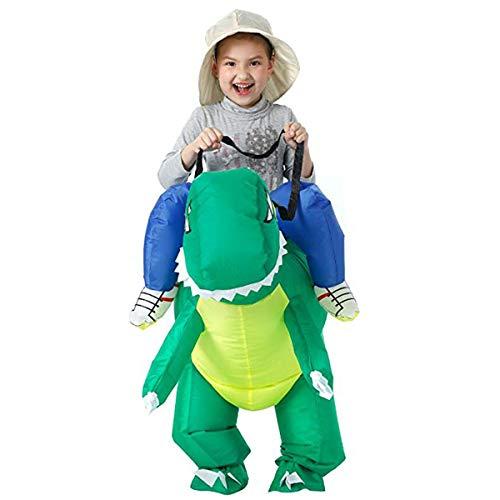unbrand Erwachsener Kinderdinosaurier-aufblasbares Kostüm-Pferd und Cowboy-aufblasbarer Abendkleid-Anzug Halloween-Explosion ()