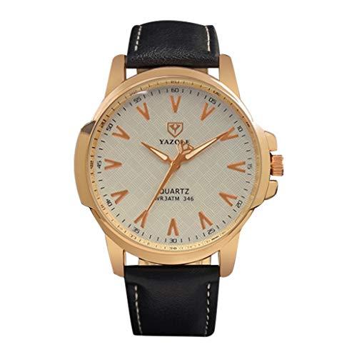 REALIKE Herren Business Kleid Uhr mit Chronograph Sport Militär Quarzuhr Edelstahl Band Schwarz Analog Armbanduhr Wasserdicht Klassische Smart Watch