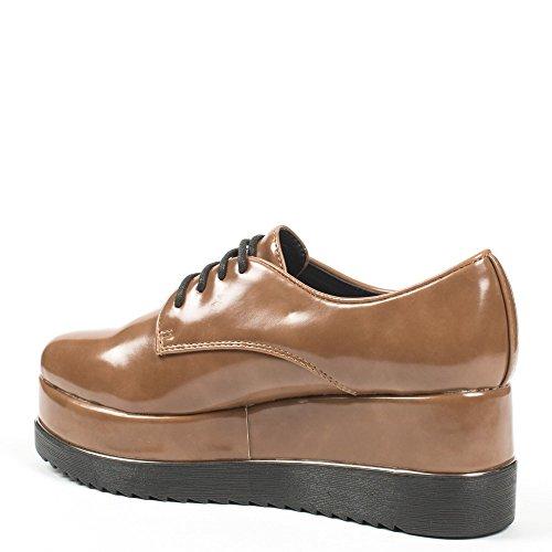 Ideal Shoes ,  Scarpe stringate donna Marrone