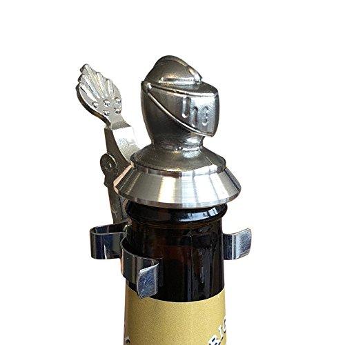 Bouteille de bière étain Couvercle armure de chevalier Moustiquaire Anti-Moustiques – avec d'acier Pince à ressort, s'adapte sur coupe Bouteille de bière
