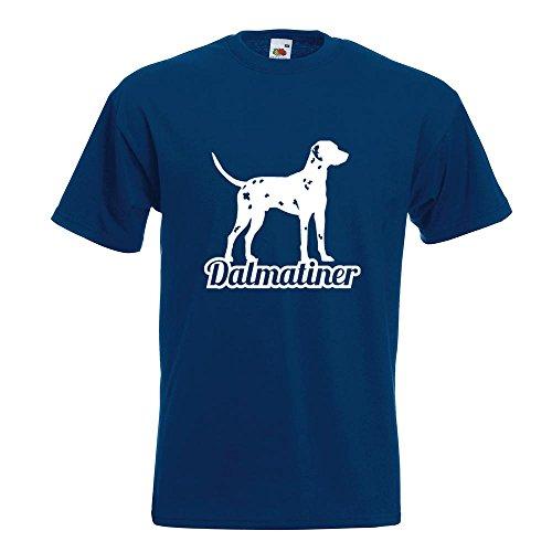 KIWISTAR - Dalmatiner mit Name Hunderasse T-Shirt in 15 verschiedenen Farben - Herren Funshirt bedruckt Design Sprüche Spruch Motive Oberteil Baumwolle Print Größe S M L XL XXL Navy
