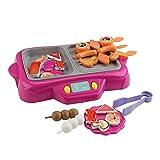ZHONGLI Finta di Giocare Giocattolo da Cucina per Bambini - Simulazione elettrica Giocattolo da Cucina pentola Calda Rotante con Funzione Nebbia