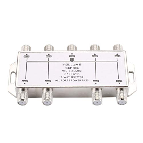 Mini8 Port TV Signal Satellit Sat Koaxial Diplexer Combiner Splitter Combiners Kabel Switch Switcher TV Signal Splitter, Silber Sat-tv-combiner