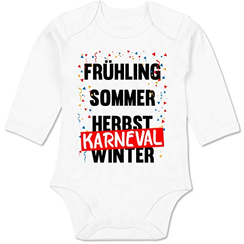 Shirtracer Karneval und Fasching Baby - Frühling, Sommer, Herbst, Karneval, Winter - Karneval Kostüm - 3-6 Monate - Weiß - BZ30 - Baby Body Langarm