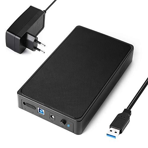 Salcar USB 3.0 Festplattengehäuse UASP 3,5 Zoll Externe Festplatten Gehäuse USB 3.0 exte