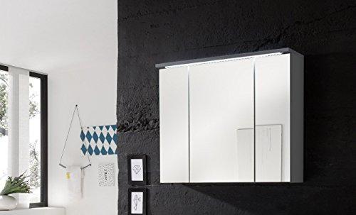 Stella Trading Spiegelschrank Weiss mit Beleuchtung