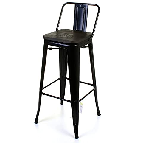 Marko Furniture Milan Metal Breakfast Bar Stool Seat Chair Industrial