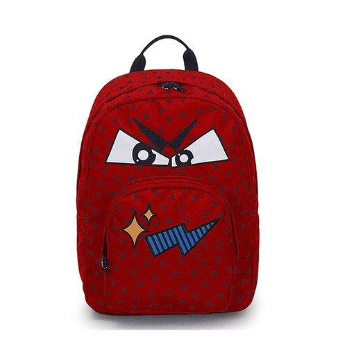 invicta- Zaino Ollie Face Fantasy Fiesta Red, Colore Rosso, 206001855-411