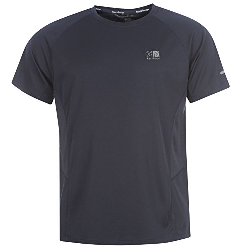 Karrimor Mens Short Sleeve Run T Shirt Breathable Running Jogging Sport Top Deep Navy XXXL