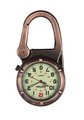 Entino Marke Antik Kupfer Clip auf Karabiner Leuchtendes Gesicht Starke FOB Uhr Ärzte Krankenschwestern Sanitäter Köche militärischen Stil