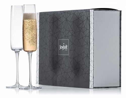 joyjolt Amara High End Crystal Champagne Gläser, 100% bleifrei Champagner Flöte Gläser, Set von 2Champagner Flöten Glas, 6-ounce Ultra Clear Kristall Champagner Gläser