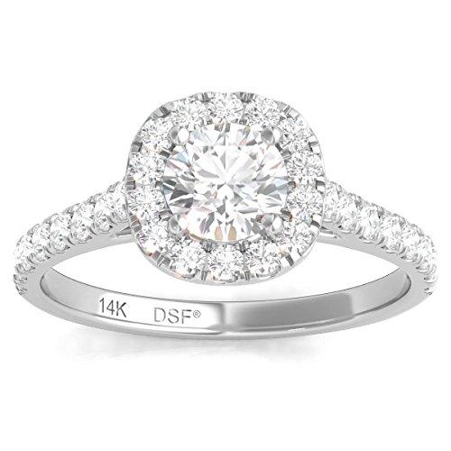 Diamond Studs Forever - Halo-Verlobungsring