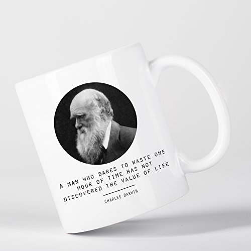 Value of Life Charles Darwin Quote Origin of Species Evolution Atheist Tasse