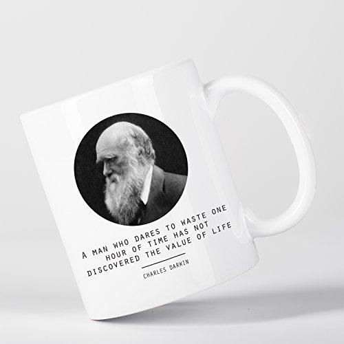 Value of Life Charles Darwin Quote Origin of Species Evolution Atheist Tasse