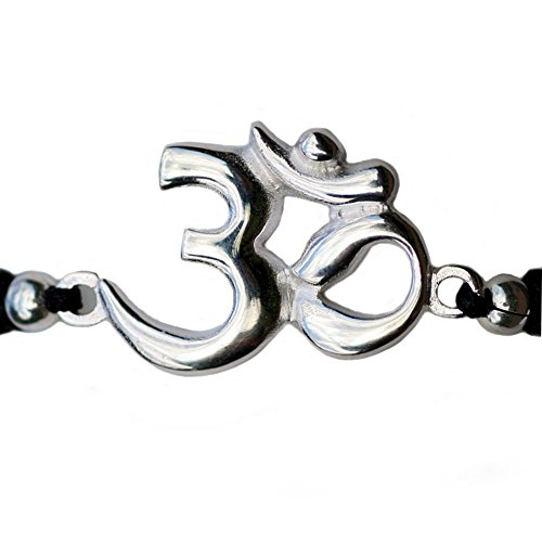 polyester-cord-adjustable-bracelets-with-925-sterling-silver-charm-om