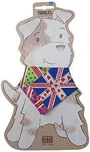 Toggles Bandana funky pour chiot/chien Motif Union Jack