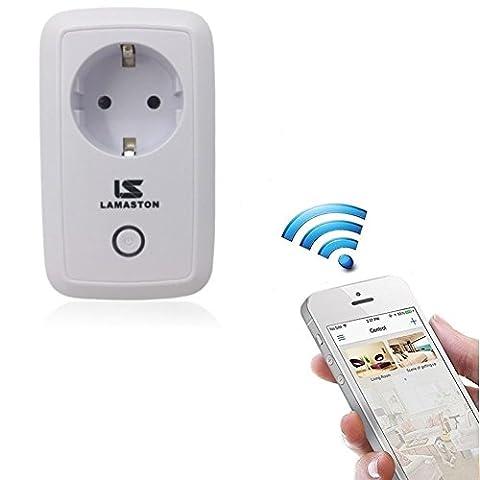 Intelligente WiFi Prise, Lamaston WIFI Interrupteur Smart Prises Socket Télécommandées, Prise de Contrôle à Distance Contrôlée par Gratuit APP (compatible avec Android,IOS)