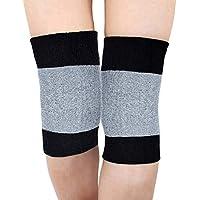 King of Flash rodilla LEG Warmer negro/gris apoyo vendaje muscular conjunta atención, transpirable Kneelet talla única elástica elástico