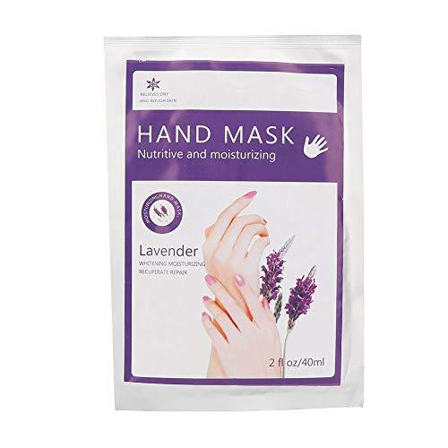Feuchtigkeitsspendende Handschuhe Lavendel (40 ml feuchtigkeitsspendende Handmaske, Lavendel Handmaske + Handpeeling Maske + Handpflegemaske Reparatur raue Haut für Männer Frauen haben Sie eine weiße und zarte Hand)