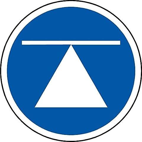 Centre de gravité ISO sécurité étiquette - auto autocollant 100mm x 100mm ...