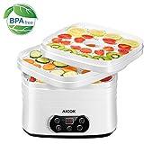 AICOK Deshidratador Alimentos, sin BPA, Deshidratador Eéctrico con Pantalla LCD, 35 ° C-70 ° C,...
