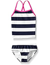 Kanu Surf Little Girl's Toddler Layla Stripe Tankini Swimsuit